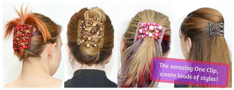 Hand beaded and fair trade hairclips from South Africa