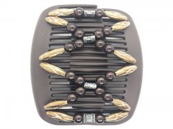 African Butterfly hair clip on brown interlocking combs