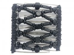 All Black Original Butterfly Hair Clip  with 9 interlocking prongs