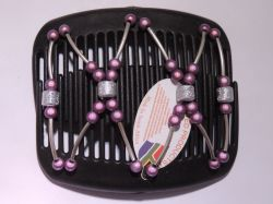 11cm African Butterfly hair clip on black comb with a hint of purple