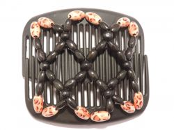 11cm African Butterfly hair clip on black comb