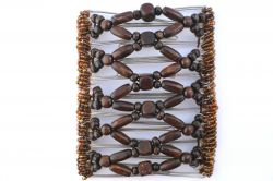 Brown Wooden Beads Large Butterfly Hair Clip for Amazing Hair