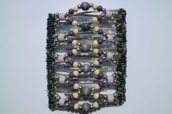 Pretty Purple and Silver Large One Clip 11 Prong for any amount of hair!