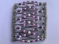 Pretty Pink, Purple and Pearl Large Butterfly Hair Clip